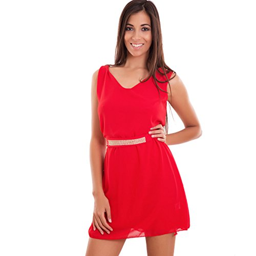 Toocool - Robe - Taille empire - Femme Rouge