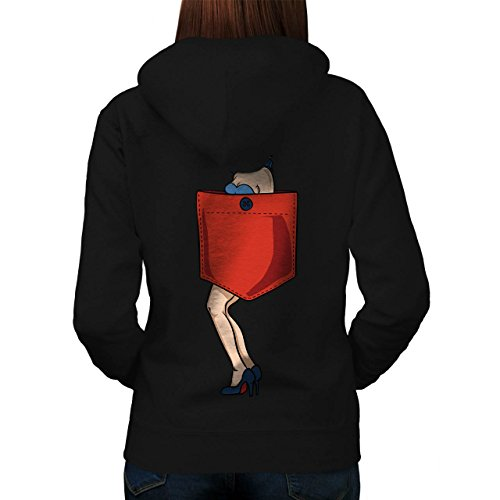 Sexy Mädchen Tasche Abdeckung Women XL Kapuzenpullover Zurück | (Womens Einsame Kostüme Cowgirl)