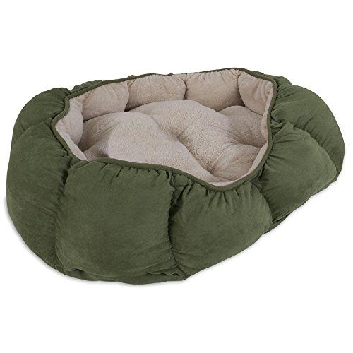 Aspen Pet Pouf Hundebett, oval, 34x 27, Navy Sortiert, blau/Burgund/Dunkelbraun/grün