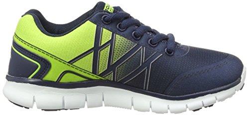 Gola G-Blast, Chaussures de Running Compétition Garçon Bleu - Blue (Navy/Lime)