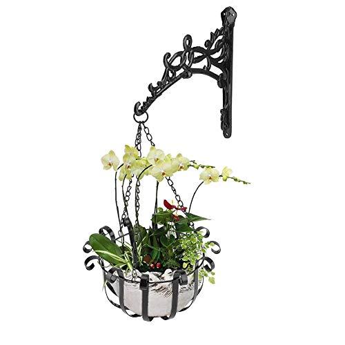 0ae2f9b0809 Support à Crochet en Fer pour Pot de Fleurs Fer Mur Panier À Fleurs en Métal