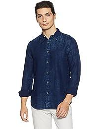 Jack & Jones Men's Plain Slim Fit Cotton Casual Shirt