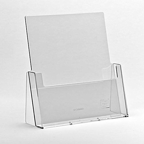 TAYMAR DIN A4 Prospekthalter / Prospektständer, Transparent (C230 / LA-330)