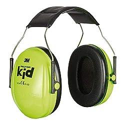 3M Peltor Kid Kapselgehörschützer neongrün - Kinder Gehörschutz mit verstellbarem Kopfbügel für Lärm bis 98dB - SNR 27 Hörschutz mit hohem Tragekomfort & geringem Gewicht