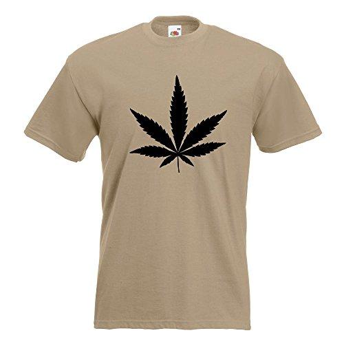 KIWISTAR - Hanf T-Shirt in 15 verschiedenen Farben - Herren Funshirt bedruckt Design Sprüche Spruch Motive Oberteil Baumwolle Print Größe S M L XL XXL Khaki