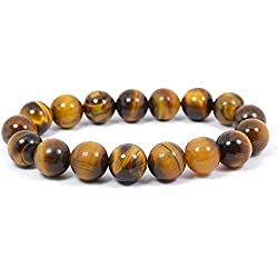 Reiki Crystal Products Tiger Eye Round Bead 10mm Crystal Stone Bracelet Reiki Chakra Healing Gemstone For Unisex