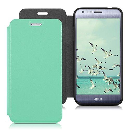 kwmobile LG X Cam Hülle - Kunstleder Handy Schutzhülle - Flip Cover Case für LG X Cam