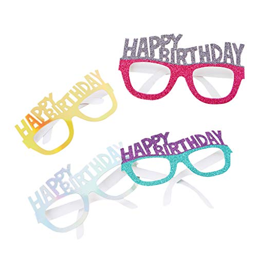 d Happy Birthday Brille Geburtstag Dekorationen Requisiten Partybrille Geburtstagsgeschenk Party Supplies ()