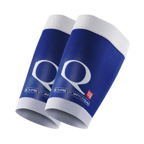COMPRESSPORT Herren Oberschenkel Kompressions Sleeve Quad Oberschenkelkompressionssleeve Blau XL