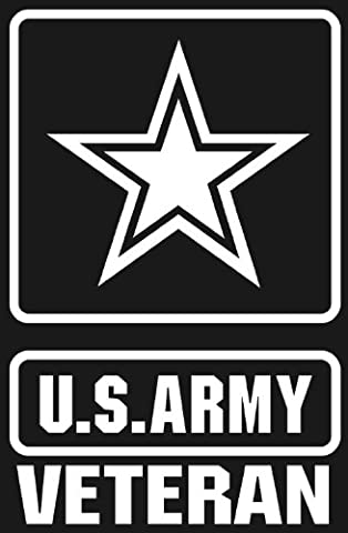 Aufkleber / Autoaufkleber / JDM Die Hart - U.S. ARMY VETERAN STAR Logo white window or bumper sticker