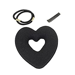 Homeoculture Cute Heart Shape Tiaras Hair styling Tool Women Girls Sponge Bract Head Meatball Hair Bun Maker Ring Donut With Two Free accessories