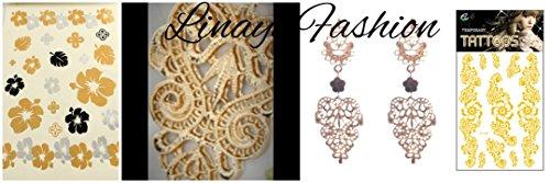 Lange Linayo® Gold Farbene Viktorianische Vintage Style Barock Spitzen Ohrringe, ohrstecker - 4