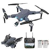 3T6B Dron con Cámara,1080P HD, Avión WiFi FPV por Control Remoto, Cuadricóptero de Plegable, 3 Modos de Velocidad, Modo sin Cabeza, Regreso con un Solo Botón, Año Nuevo Cumpleaños Regalo