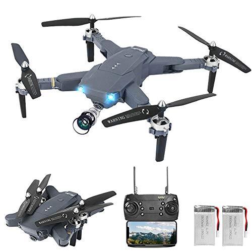 3T6B Drone Plegable, con Cámara HD 2K, Avión WiFi FPV por Control Remoto, RC Cuadricóptero de 3 Modos de Velocidad, Modo sin Cabeza,  Regreso con un Solo Botón, Año Nuevo Cumpleaños Regalo