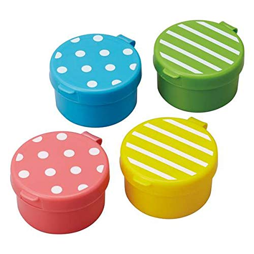 dot stripe mini sauce containers for Bento Box Lunch Box by Kawaii Bento-sauce