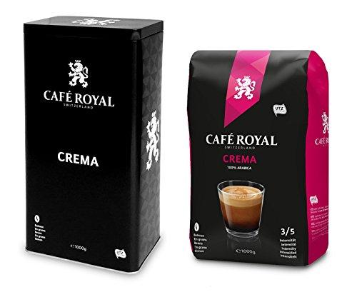 Café Royal Crema Bohnen mit Dose, 2er Pack (2 x 1 kg)