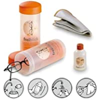 freiblick Brillenbad SET | Schüttelbad mit Spezialreiniger 50ml + Microfasertuch