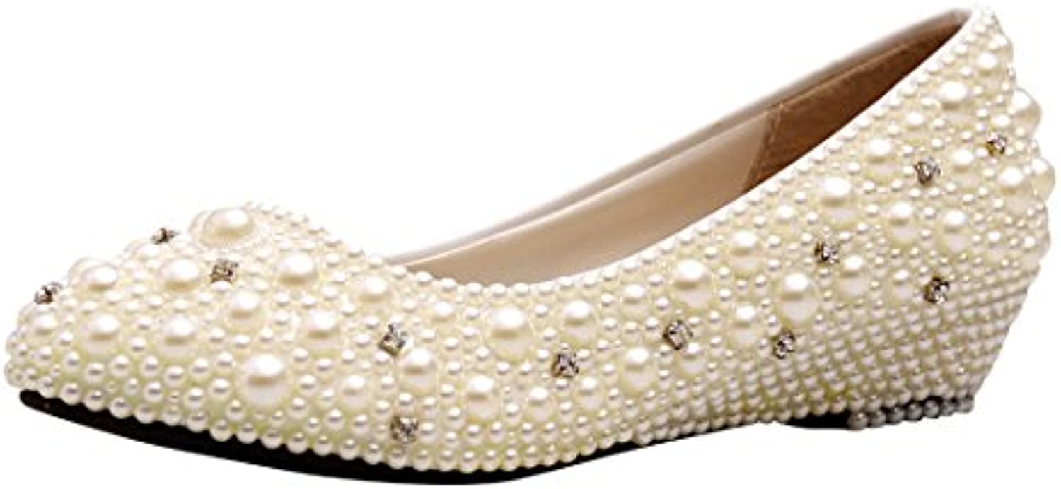 les femmes minitoo mzll033 coin handmade ivoire satin mariage mariage mariage soir bal pompes chaussures 4 m uk b01908d79i parent 18958b
