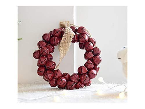 Heelinna natale campana di natale ghirlanda porta ornamenti appesi in camera albero di natale pendenti per la decorazione (rosso)