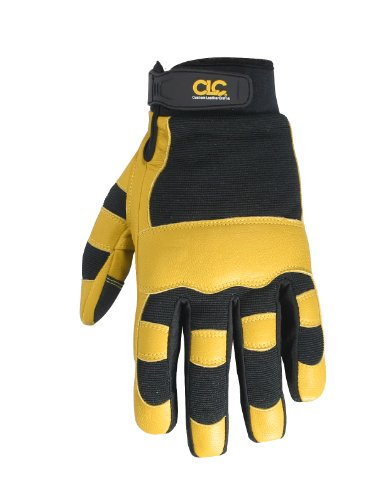CUSTOM LEATHERCRAFT 275L GUANTE PROTECTOR   GUANTES PROTECTORES NEGRO  AMARILLO