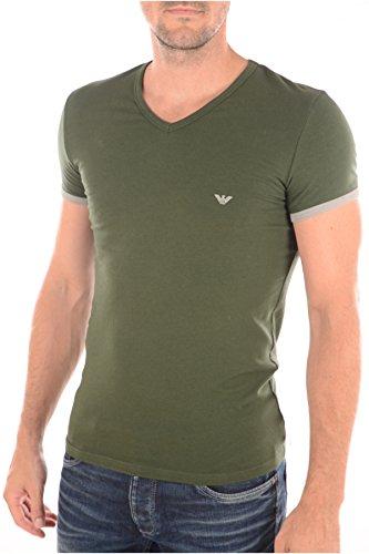 Emporio Armani - T-shirt - Maniche Corte - Uomo Scollo a V Stretch Cotton MOSS 110810 5A725 (M)