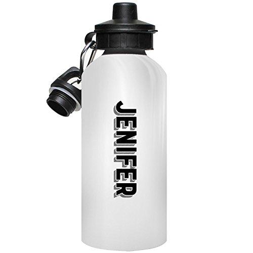 MugMax Jenifer Water Bottle La Bouteille d'eau, Le Cadeau personnalisé, folâtre Les Bouteilles d'eau Qui indique Jenifer, 600ml / 20oz