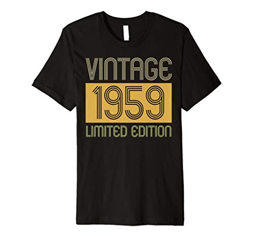 60th Birthday Gift Idea Vintage 1959 Men Women Tshirt