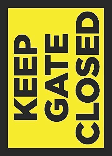 Dozili Keep Porte fermée Panneau en Aluminium Plaque de Plaque en métal 12\
