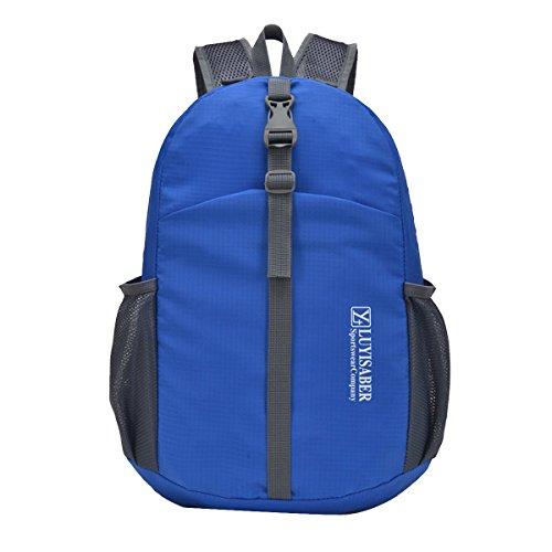 Butterme Impermeabile Packable Pieghevole Leggera Corsa Esterna di Sport dello Zaino dello Zaino Daypack Blu