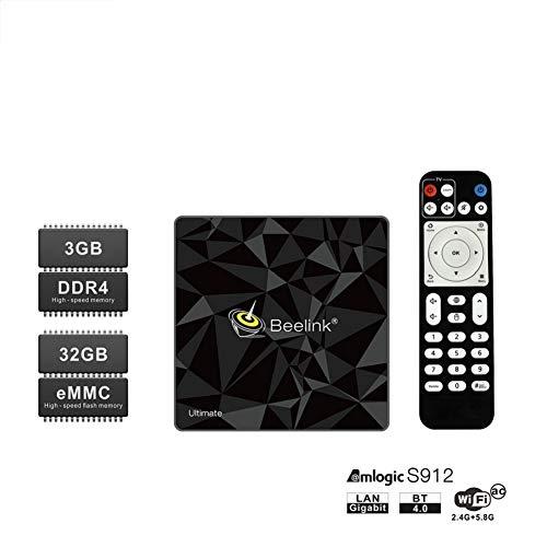 LinZec Beelink GT1 Mini Android TV Box, Boîte Smart TV pour 8 noyaux 3G / 32G, Soutien BT4.0 2.4G + 5.8G WiFi / 3D / 4K / H.265 / AVE-10 / HDMI 2.0A