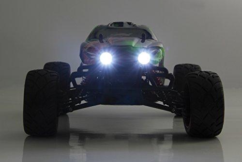 Veloce Monstertruck 1:10 4WD NiMh 2,4G LED - Allrad, Elektroantrieb, Akku, 35Kmh, Aluchassis, spritzwasserfest, Öldruckstoßdämpfer, Kugellager, Fahrwerk einstellbar, fahrfertig - 3