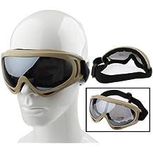 UV400Esquí Snowboard deportes gafas (Caqui)