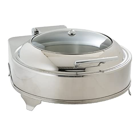 Olympia Round Electric Chafer 490X425X240mm Stainless Steel & Glass Dish