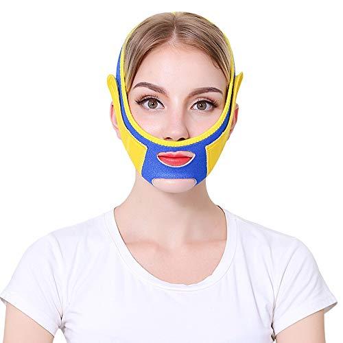XLHJFDI Schlaf dünnes Gesicht mit kleinem V Gesichtsartefakt Maske Strahl Gesichtsmaske Verbandstraffendes Gesicht Straffendes Gesicht Dünnes Doppelkinn -
