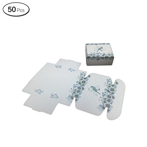 schenk Boxen Aufbewahrung Geschenkpapier Box für Dessert Seife Dekoration 7.5*7.5*3cm/3*3*1.2Inch sonnenblume ()