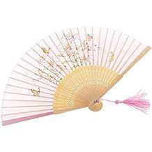 Fächer Bambus Kirschblüten Handfächer Deko Sommerfächer Kostüme