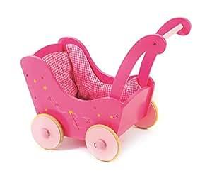 BAYER CHIC La poussette de poupée en bois accessoires pour poupée, rose