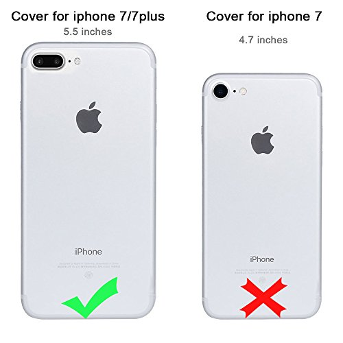 Coque iPhone 7 Plus 5.5, Sunroyal® TPU Transparent Raindrop Etui Housse Silicone Doux Ultra Mince Case Cover Shock-Absorption Bumper Protection pour Apple iPhone 7 Plus (5.5 Pouces) 2016 - Bleu Rain-Blanc