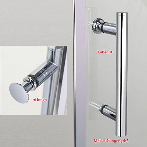 Schiebetür – Duschabtrennung mit Glas links und rechts - 9