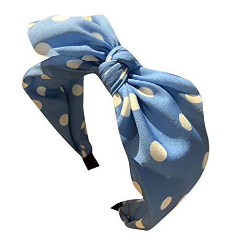 Cocktail Frucht Kostüm - MDenker Mütze Headband Bogen Stirnband Stirnband Kreuz Krawatte Stirnband Haarband Hoop Polka Dot Elegante Blumen Mesh- Netz Schleier Feder Fascinator Haar Klipp Bandana Frauen Haarschmuck (Blau)