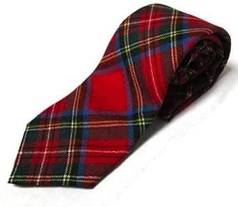 100% Wool Tartan Tie - Royal Stewart