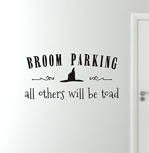 (wandaufkleber 3d Wandtattoo Wohnzimmer Alle anderen werden Kröte Zitate Halloween Home Livingroom Holiday Decor Hexe Besen Parkplatz)