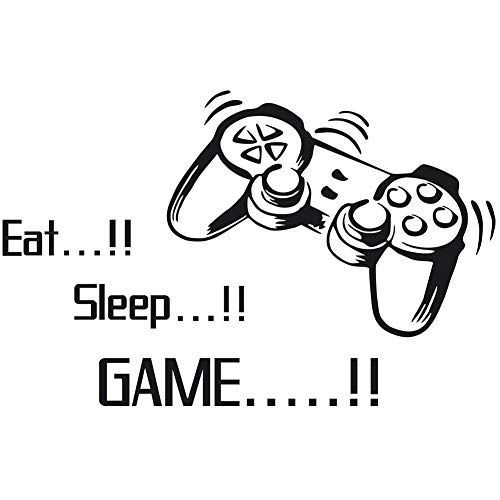 Scrox 1pcs Pegatinas Eat! Sleep! Game! Stickers Pared