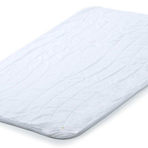 aqua-textil Ganzjahres Bettdecke 155x220 Steppdecke Kochfest Ganzjahresbett Ambiente Steppbett Weiß 1000749