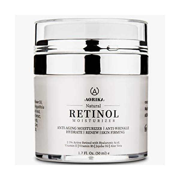 AORIKA Crema Antiarrugas Facial para Día y Noche,Crema Hidratante Faciales Retinol Antimanchas Antiedad con Ácido…