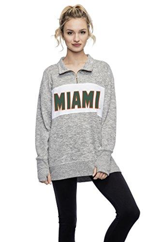 Chicka-D NCAA Damen Fleece-Pullover, Quarter Reißverschluss, Damen, Cozy Fleece Quarter Zip Pullover, grau meliert, Large - Quarter-zip Fleece Pullover
