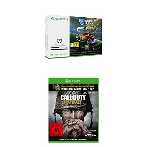 Xbox One S 500GB Konsole - Rocket League Bundle + Call of Duty: WWII