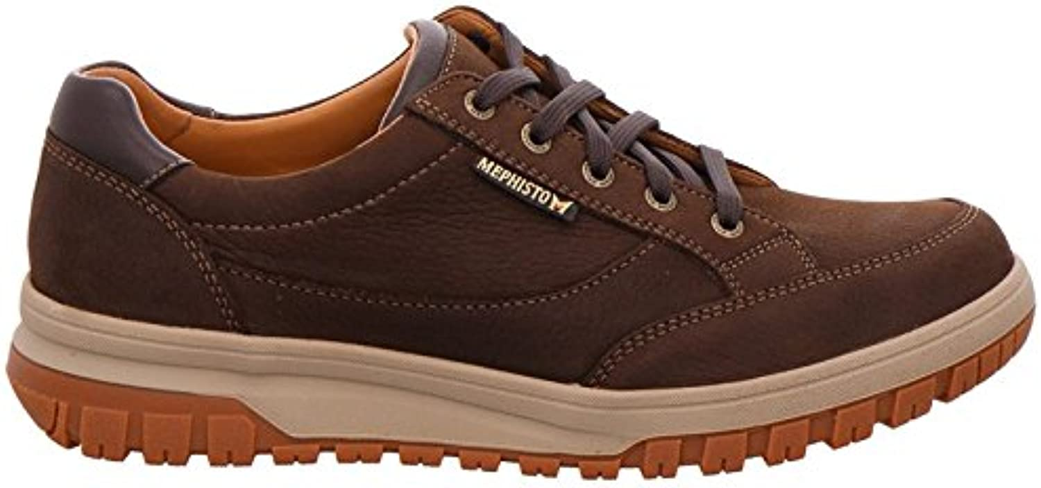 Mephisto Mens denys Dark Brown Leather Shoes 46 EU