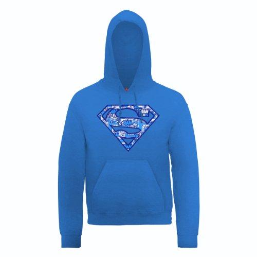 DC Comic Herren Sport Kapuzenpullover Blau - Königsblau