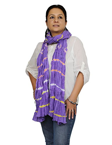 Preisvergleich Produktbild Stolen Zubehör indischer Kostüm Baumwolle zerknittert Tie Dye lange Damenschals
